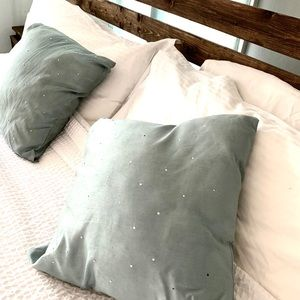 Set of 2 accent pillows juniper green